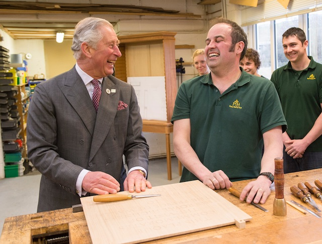 HRH The Prince of Wales visiting Peter Hall & Son