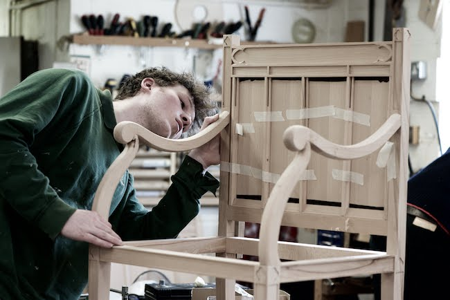 Making reproduction furniture for Auckland Castle