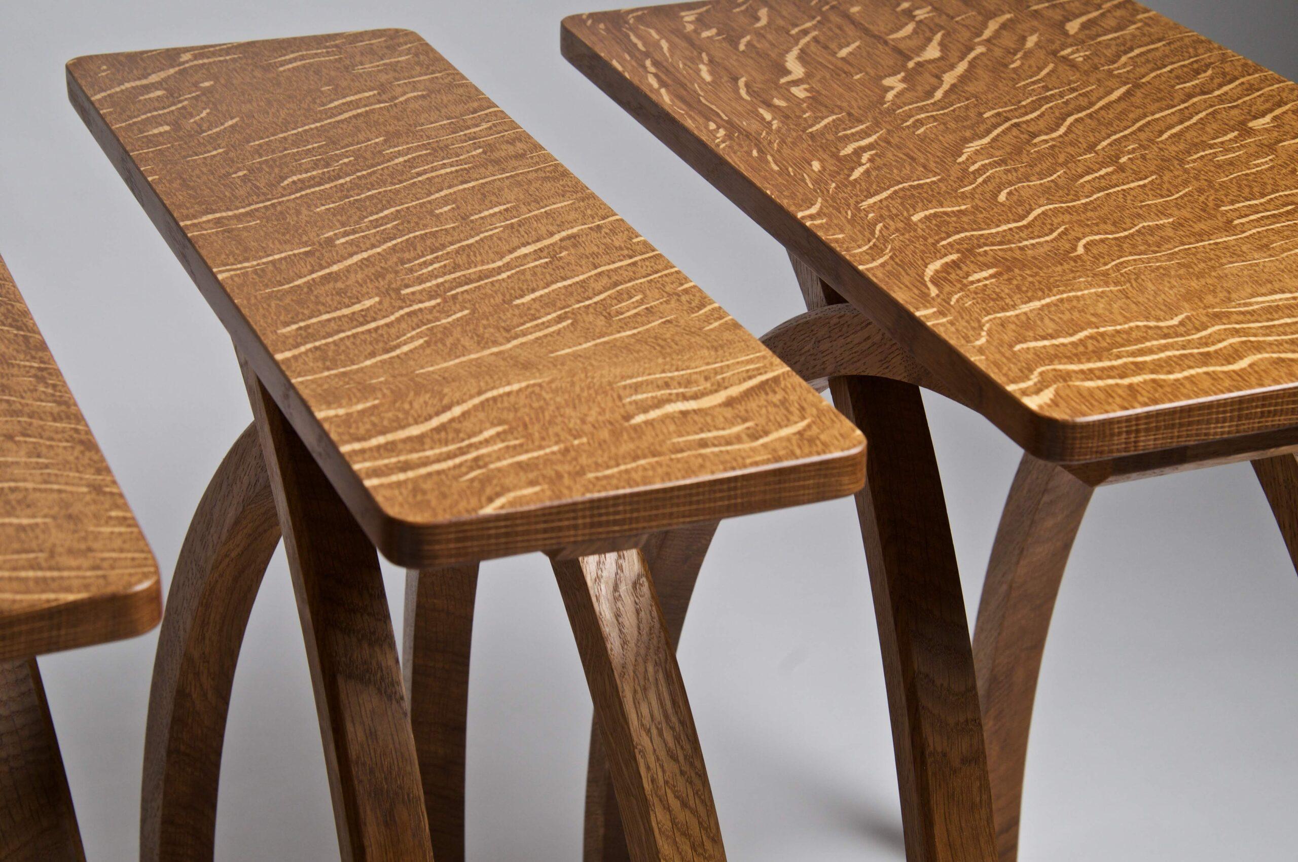 oak gin table